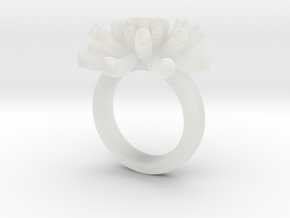 Sea Anemone ring 16.5mm in Smooth Fine Detail Plastic