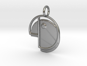 Cupidity Logo Pendant in Natural Silver