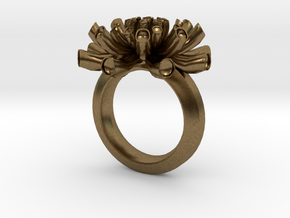 Sea Anemone ring 16.5mm in Natural Bronze