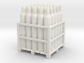 Gas Tank Pallet 1/56 in White Natural Versatile Plastic