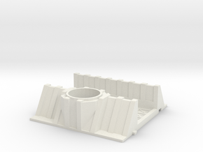 28mm weapon emplacement trench in White Natural Versatile Plastic