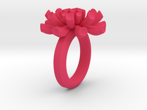 Sea Anemone Ring17.5mm in Pink Processed Versatile Plastic