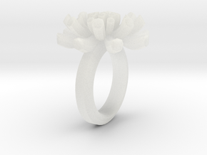 Sea Anemone Ring17.5mm in Smooth Fine Detail Plastic