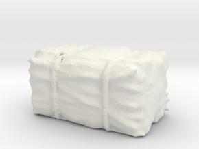 Hay Bale 1/87 in White Natural Versatile Plastic