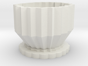 pot in White Natural Versatile Plastic: Medium