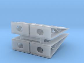Car Display Ramp (x4) 1/200 in Smooth Fine Detail Plastic