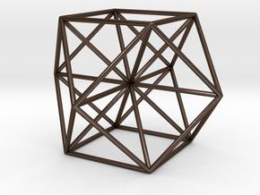 cuboctahedron, Vector Equilibrium in Polished Bronze Steel