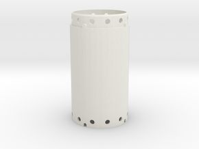 Casing joint 1200mm, lenght 2,00m in White Natural Versatile Plastic