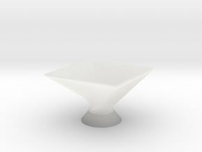 Twist Bowl in Smooth Fine Detail Plastic