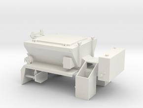 1/50th PB Patcher Asphalt repair truck body in White Natural Versatile Plastic