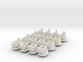 N Gauge Elizabethan Plateway Diorama (Multipack) in White Natural Versatile Plastic