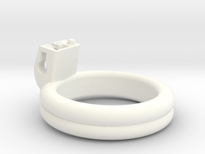 Cherry Keeper Ring - 47mm Double Flat +2° in White Processed Versatile Plastic