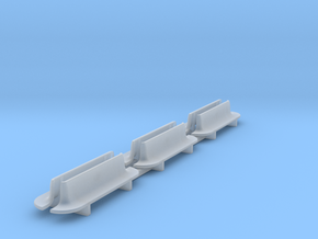 6pcs: N Scale Bench - Rounded Ends in Smooth Fine Detail Plastic