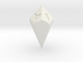 d5 Vowel shard in White Natural Versatile Plastic