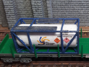 Tank-Container-Model-01 escala N in Smooth Fine Detail Plastic