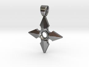 Shuriken [pendant] in Polished Silver