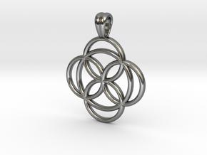 Celtic rose [pendant] in Polished Silver