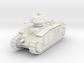 Char B1 Bis 1/76 in White Natural Versatile Plastic