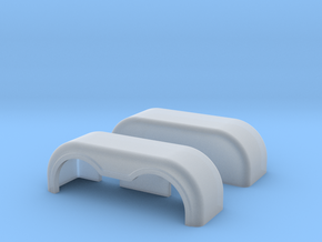 Dual fenders 1-87 in Smooth Fine Detail Plastic