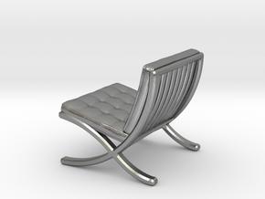 "Mies-Van-Barcelona-Chair - 1/2"" Model in Natural Silver"