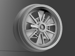 1/64 Scale Shelby AC Cobra wheels 8mm Dia - 4 sets in Smoothest Fine Detail Plastic