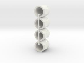 1/120th (TT) scale 4 x Ferro-concrete sentry bunke in White Natural Versatile Plastic