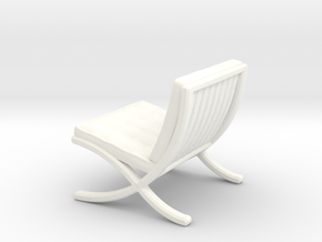 "Mies-Van-Barcelona-Chair - 1/2"" Model in White Processed Versatile Plastic"
