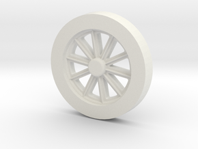 Fire Queen tender wheel pattern in White Natural Versatile Plastic