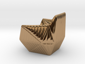 """Facett-chair  - 1/2"""" Model in Polished Brass: 1:24"""