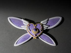 Custom Heart Brooch in White Natural Versatile Plastic