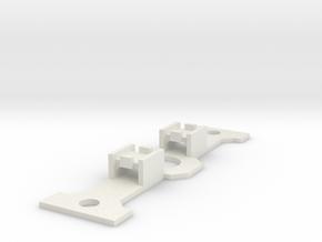 PP/7C SK-5x5FlatSwitchHolder in White Natural Versatile Plastic
