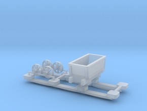 00 Scale Plateway Truck and Track in Smooth Fine Detail Plastic