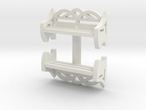 Park Bench (x2) 1/43 in White Natural Versatile Plastic