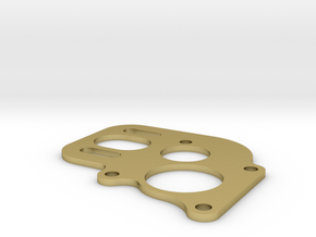 Losi Micro Crawler Brass 130/180 motor plate in Natural Brass