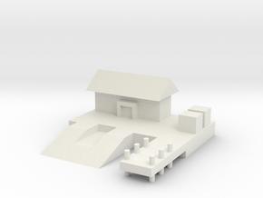 1/285 Sea Plane Base in White Natural Versatile Plastic