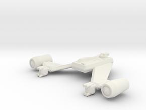 Kodan Deck Fighter / 4.5cm - 1.77in (Width) in White Natural Versatile Plastic