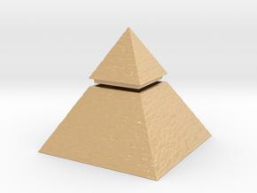 Pyramid Box in Glossy Full Color Sandstone