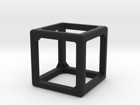 Pop-Up Dice (frame only) in Black Natural Versatile Plastic