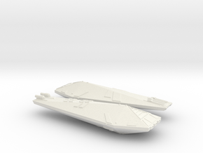 3788 Scale Hydran Destroyers (2, Mixed) CVN in White Natural Versatile Plastic