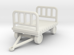 Luggage Cart 1/48 in White Natural Versatile Plastic