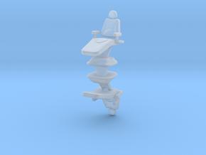 Dentist Chair (x2) 1/43 in Smooth Fine Detail Plastic