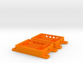 DRAW earrings - MicroMIC in Orange Processed Versatile Plastic