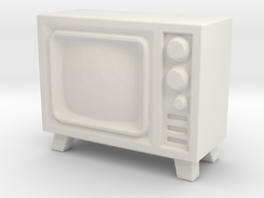 Old Television 1/56 in White Natural Versatile Plastic