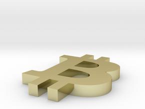 small B, bitcoin b flat in 18k Gold Plated Brass