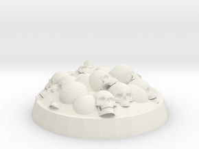 25mm Skull Covered Base in White Natural Versatile Plastic