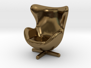 Fh Egg Blackleather-03-small in Polished Bronze