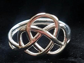KNOT RING in Polished Silver: 5 / 49