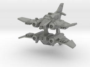 6mm DarkClaw Fighter-Bomber (2pcs) in Gray PA12