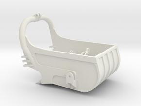 dragline bucket 4cuyd - scale 1/50 in White Natural Versatile Plastic