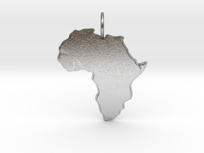 AFRICA in Natural Silver